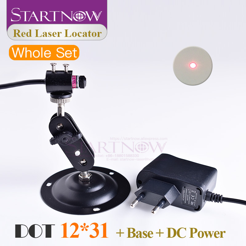 Set 12*31 With Holder & EU UK Power Adapter Dot Laser Red Light Positioning Adjustable Infrared Beam Diode Module Laser Machine