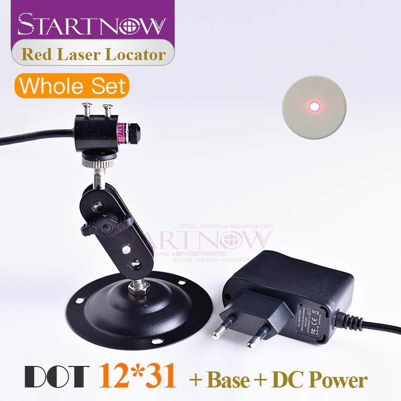 Set 12*31 With Holder & EU UK Power Adapter Dot Laser Red Light Positioning Adjustable Infrared Beam Diode Module Laser Machine