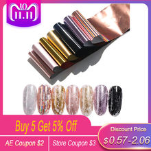 7 Colors/Kit Holographic Nail Foils Rose Gold Champagne Nail Art Transfer Stickers DIY Manicure Design