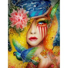 Diamond Painting Full Drill Colorful Woman Home Decor Picture Of Rhinestone Mosaic Embroidery People Crafts