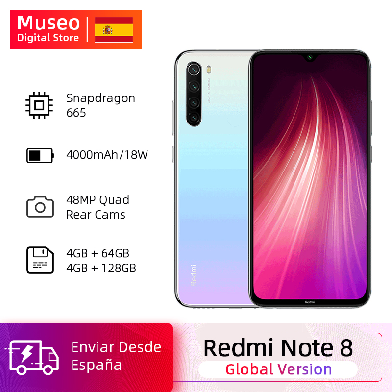 Gloabl Version Xiaomi Redmi Note 8 4GB 64GB 48MP Quad Camera Smartphone Snapdragon 665 Octa Core 6.3
