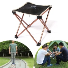 Fishing-Chair Folding Camping Ultra-Light Outdoor Portable for Four-Corner Aluminum-Alloy