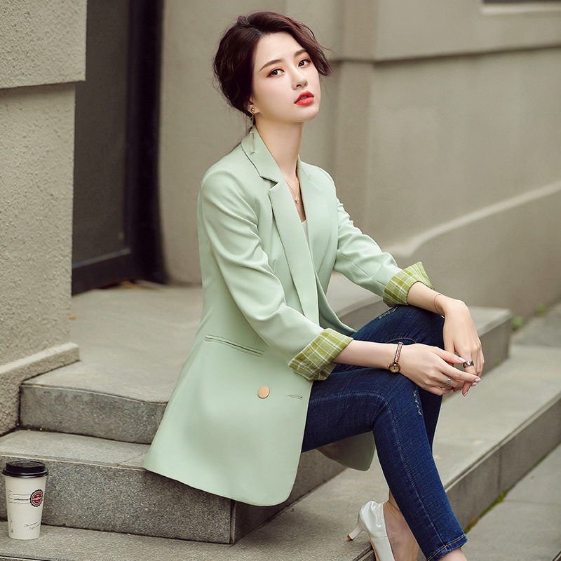 Fashion ladies solid color blazer 2020 new autumn and winter women's high-quality women's jackets Elegant office suit feminine