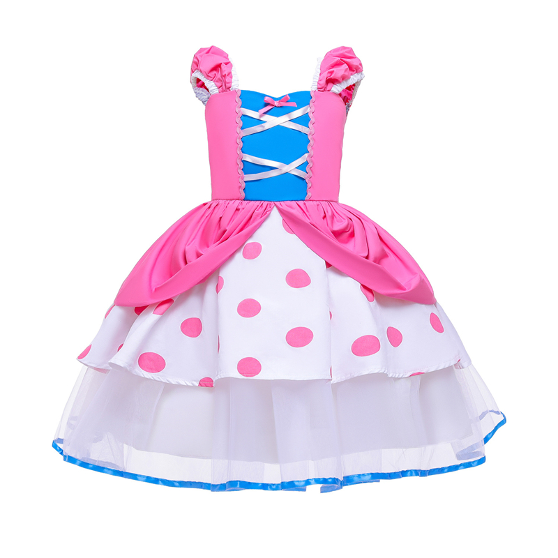 Image 4 - Summer Toy Story 4 Bo Peep Costume Cosplay Girls Dress Halloween Costume For Kids Carnival Party Dress Up ClothingGirls Costumes   -