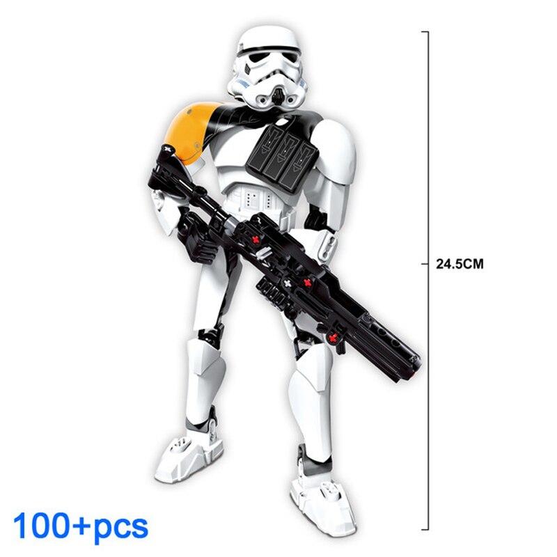 Big Size 24.5cm Stormtrooper Commander Star Wars Force Awakens Kenobi Luke Buildable Action Figure Block Toys Legoingly 75531