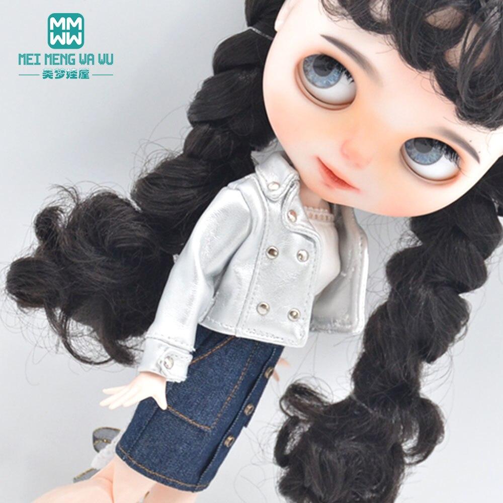 1 шт Blyth Кукла одежда модный сексуальный кожаный пиджак для Blyth Azone OB23 OB24 1/6 аксессуары для кукол