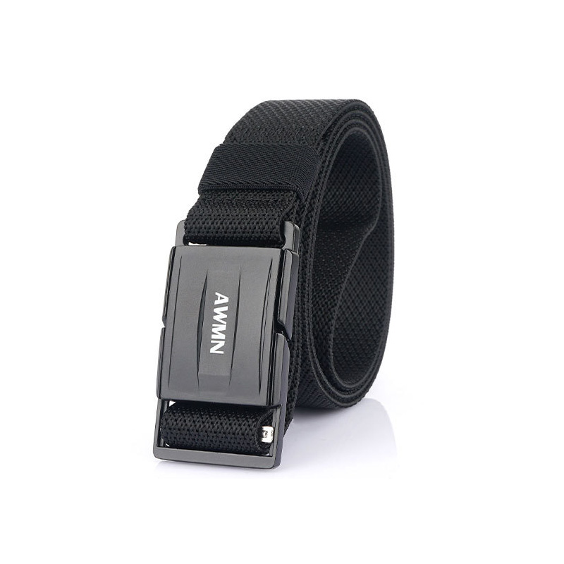 Luxury Good quality canvas Knitted nylon Magnetic buckle man Belts Army Tactics design for male strap 125cm