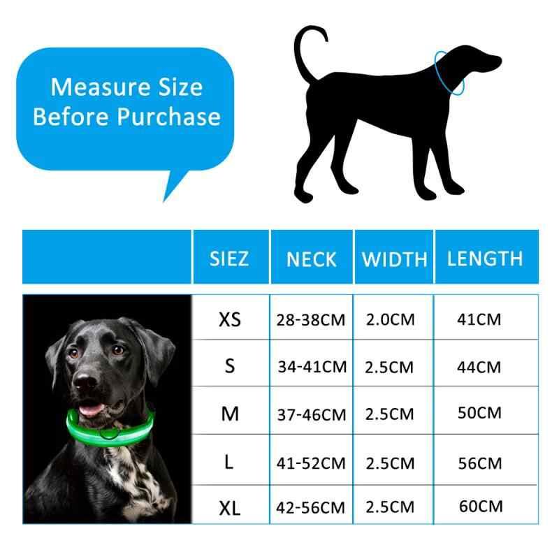 ניילון LED חיות מחמד כלב צווארון אנטי איבד למנוע תאונת דרכים צווארון לכלבים גורי כלב קולרים הובלות LED ספקי מוצרים לחיות מחמד