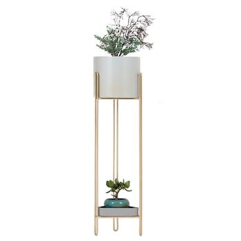 Bay Window Green Luo Flower Rack Iron Art A Living Room Corner Office To Ground Flower Airs Balcony Shelf Flowerpot Frame