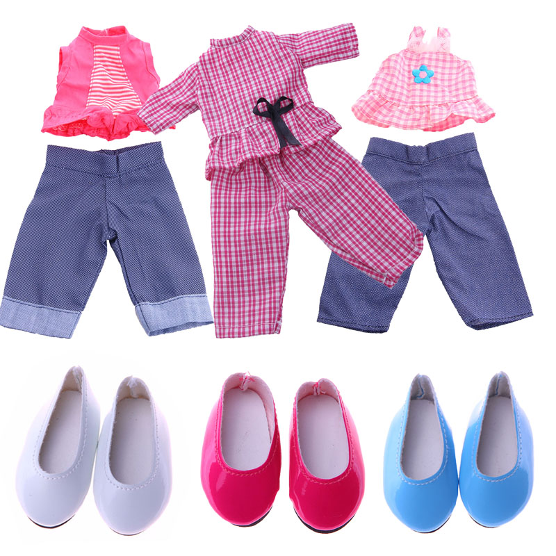 11 Style Sets Doll Clothes Accessories For 14.5 Inch Doll Wellie Wisher American Doll Clothes Christmas Birthday Girl's Gifts