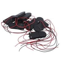 ホット3C 10個オン/オフスイッチ2 × 3v CR2032携帯ボタン電池ホルダーled