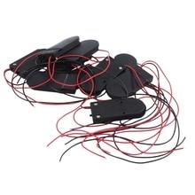 Hot 3C 10 PC ON/OFF Interruttore 2x3V CR2032 Titolare Delle Cellule del Tasto Batteria per LED