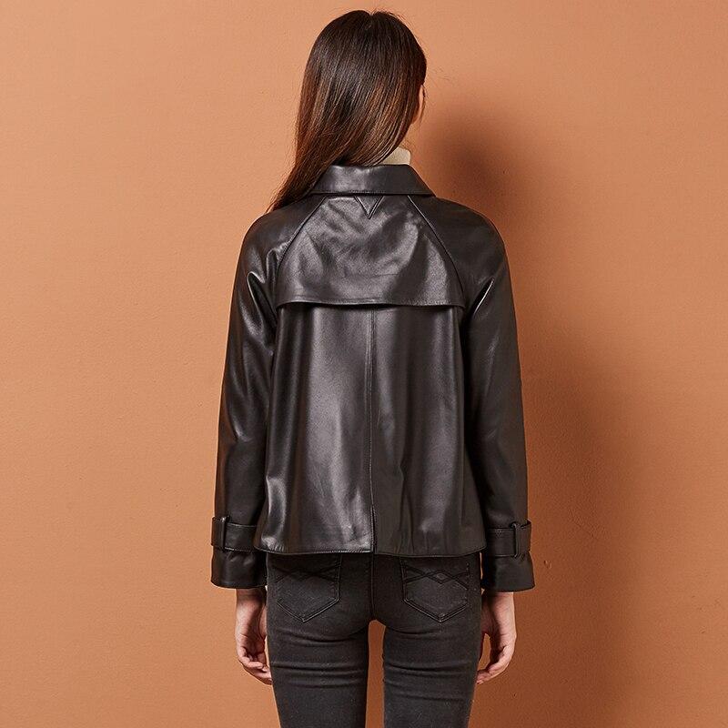 Women Genuine Leather Coat Luxury Leather Jackets Natural Sheepskin Coats Female 2020 Spring Short Korean Clothes LWL1431