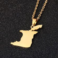 Trinidad Tobago Map Flag Pendant Necklace for Women/Girl Gold Color Lover's Stainless Steel Engagement Jewelry chereda stainless steel necklace for women man lover s girl gold and silver color pendant necklace engagement jewelry