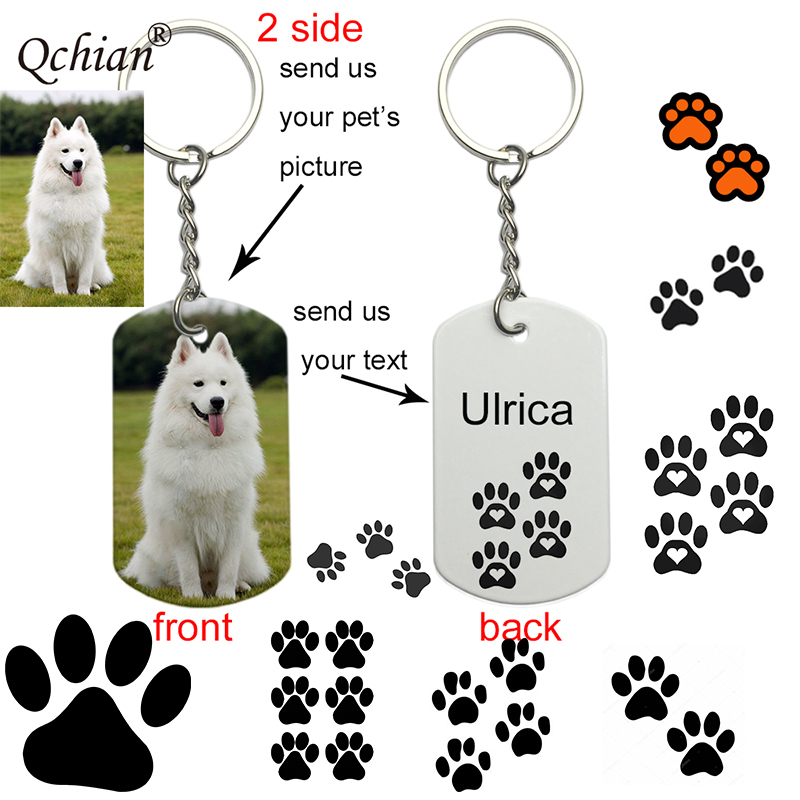 Dog ID Tag Custom Pet Id Tags Collar Accessories Personalized Puppy Metal Nameplate Tel For Pets Dogs Pitbull Chihuahua 2 Side
