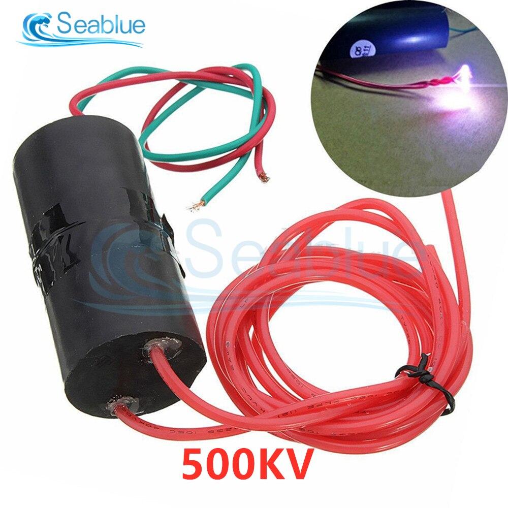 С источником питания от постоянного тока, 6V-12V постоянного тока до 500KV 500000V повышающий с высоким уровнем Напряжение генератор катушка зажига...