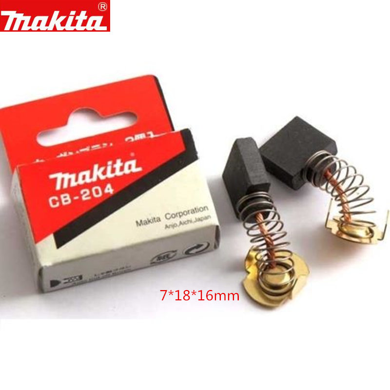 Makita 191957-7 Carbon Brushes For 191944-6 CB-204 MT92B MT92A GA9040 GA7040 9067 4112HS