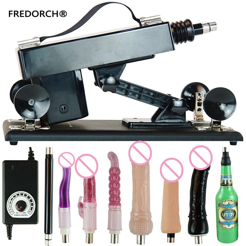 FREDORCH Sex Machine Gun With 6 Dildo Vagina Cup Toy For Adults Fuckmachine Sex Vibrator Love Machine Women Masturbator Sex Toys
