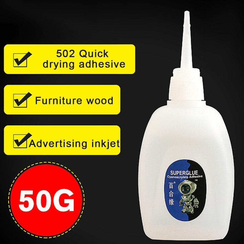 1pcs Instant Quick Dry Cyanoacrylate Strong Adhesive Quick Bond Leather Rubber Metal 8g Office Supplies 502 Super Glue Fast Glue