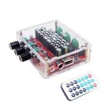 Hi Fi TPA3116D2 4,2 Bluetooth 2,1 канальный стерео цифровой аудио усилитель мощности сабвуфер плата 50 Вт * 2 + 100 Вт FM радио USB Mp3 play