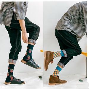 Image 5 - Lionzone 10 pares/lote meias engraçadas dos homens calcetines divertidos presentes para homens colorido designer marca feliz meias meias masculino