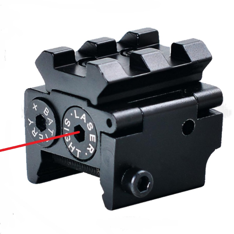 Tactical Red Laser Sight Pointer 300m with 20mm Rail Mount  for Glock 17 19 Pistol Guns Hunting Accessory-0