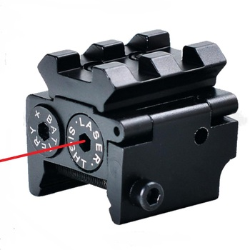 Tactical Red Laser Sight Pointer 300m with 20mm Rail Mount  for Glock 17 19 Pistol Guns Hunting Accessory