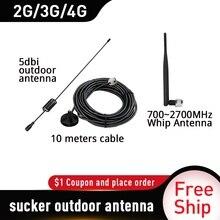 70dB Gain4Gsignal Booster 2100 (LTE Band 1) WCDMA UMTS 3 Gmobile Tăng Cường Tín Hiệu + Roi Anten + Tăng Cao Hút Trên Không + 10 M Dây Cáp Phù Hợp Với