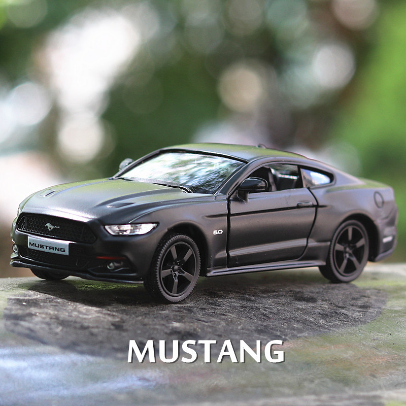 1:36 Alloy Vehicle Car Model Toy Car Toys For Children Pull Back Model Boy Kids Gifts 2 Door Open For Ford Mustang