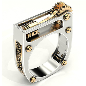 Fashion-Mechanical-Gear-Wheel-Men-Ring-Silver-Color-Punk-Wedding-Band-Finger-Rings-for-Women-Modern