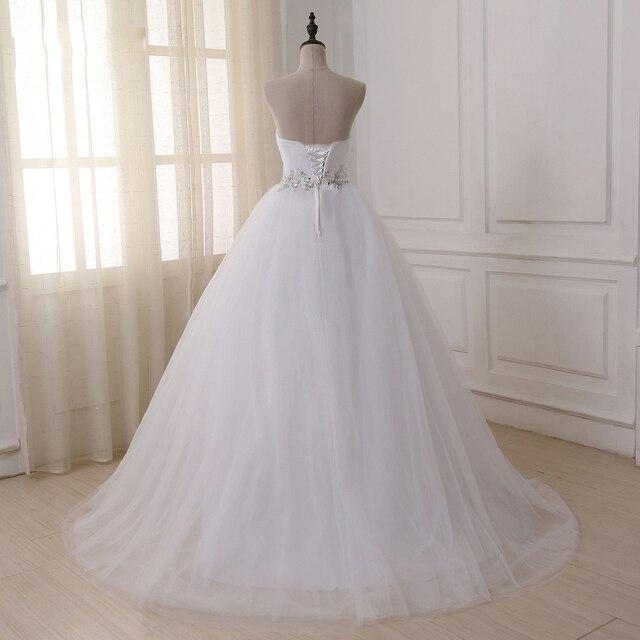 Jiayigong Stock Real Wedding Dresses Vestidos de novia Sweetheart Sweep Train Lace Applique Corset Wedding Dress Robe De Mariage 2