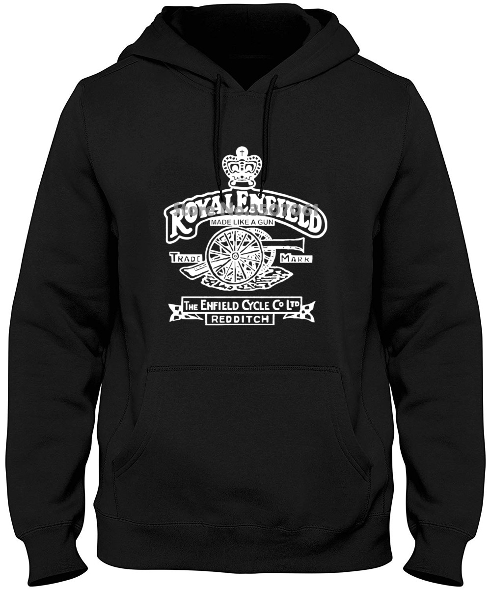 Black Men Royal Enfield Vintage Logo 2 S 3Xl Discount 100% Cotton For Men'S 2019 New Men Top Hoodies & Sweatshirts