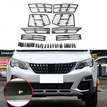 Car Insect Screening Mesh Front Grille Insert Net For 2017 2018 Citroen Peugeot 4008 3008
