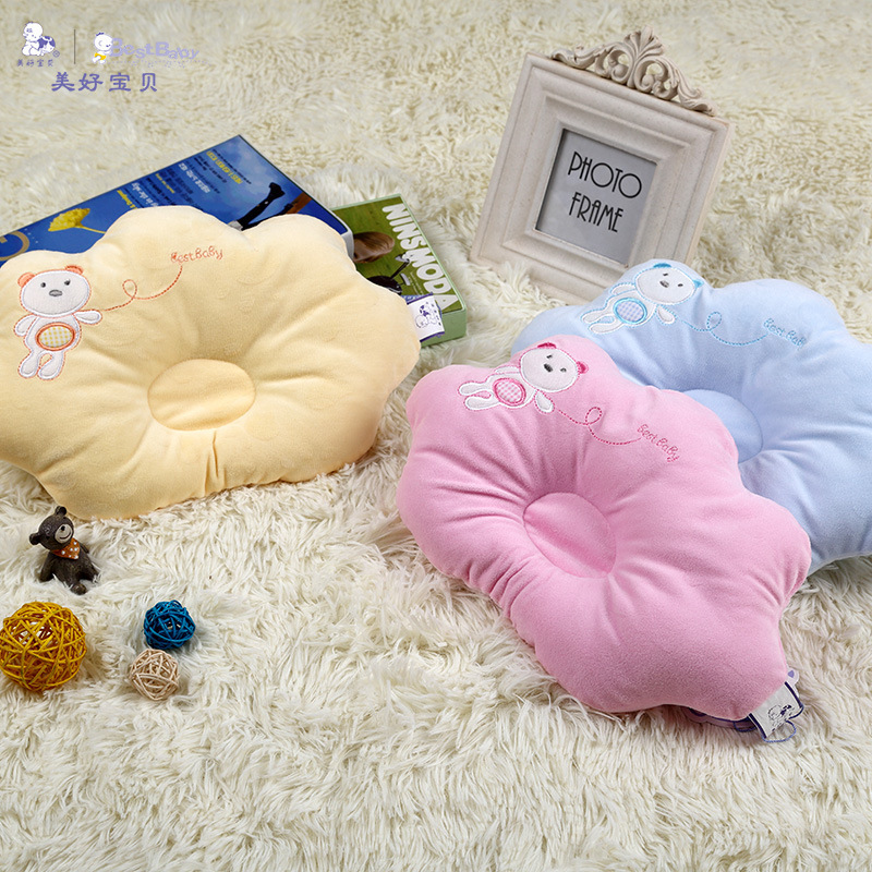 Baby Pillow Infant Cloud Shape Toddler Sleep Positioner Anti Roll Cushion Flat Head Pillow Protection Of Newborn Pillow