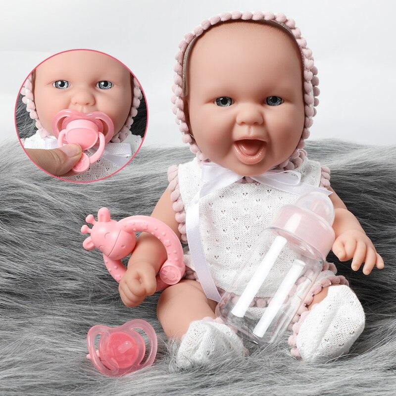 12 zoll DIY lebensechte bebe reborn puppe wasserdichte bildung Baby anzug schöne spielzeug 30cm Simulation weichen Silikon neugeborenen puppen