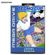 16 קצת MD זיכרון כרטיס עם תיבה עבור Sega Mega עבור בראשית Megadrive Tecmo גביע כדורגל