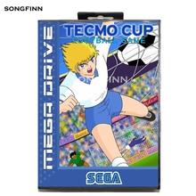 16 bit MD Memory Card With Box for Sega Mega Drive for Genesis Megadrive   Tecmo Cup Football