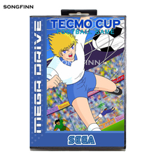 Карта памяти MD 16 бит с коробкой для Sega Mega Drive для Genesis Megadrive   Tecmo Cup Football