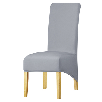 Rozmiar XL długi powrót króla krzesło z oparciem pokrywa tkanina Spandex pokrowce na krzesła restauracja Hotel Party Banquet pokrowce na fotele pokrowce na tanie i dobre opinie leorate CN (pochodzenie) Chair Cover Gładkie barwione Nowoczesne Ślub krzesło Hotel krzesło Plaża krzesło Bankiet krzesło