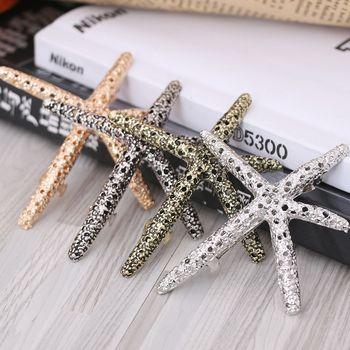Horquillas coreanas para el pelo con forma de estrella de mar de Coral para mujer