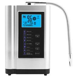 Ionizador purificador de agua alcalina produce pH 3,5-10,5 ácido alcalino hasta-650mV ORP LCD filtro de agua ionización táctil