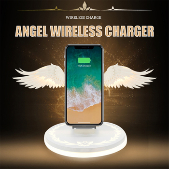 10W Wireless Charger Angel Wings Magic Quick Charging Pad for iPhone x xs max 8 Samsung s10 9 Huawei p30 pro Xiaomi Qi Charger 1