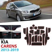 Revestimento de portão antiderrapante, tapete de borracha para kia carens 2013 2014 2015 2016 2017 rp mk3 tapete da porta acessórios do carro