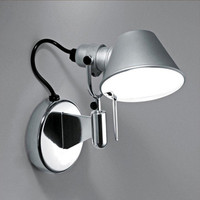 American Modern Swing Long Arm LED Flexible Wall Lights AC90 260V Silver/Black Eye Protection Bedroom Bedside Wall Lamp