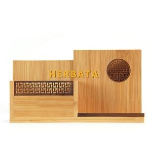 Image 5 - Çok fonksiyonlu ahşap ve bambu kalem kalemlik masaüstü saklama kutusu Retro kozmetik tutucu yaratıcı ofis aksesuarları CL 2524