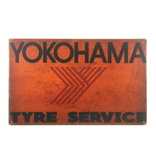 Yokohama Tyre Service Vintage Tin Sign Home Decoration Accessories for Living Room Neon 20*30 CM