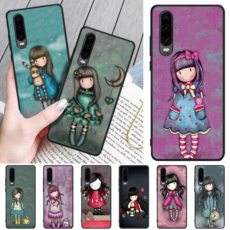 Cartoon Lovely Santoro Gorjuss Custom Photo Soft Phone Case For Huawei P8 lite 2017 P9 P10 20Pro Lite Pro P30lite P Smart 2019(China)