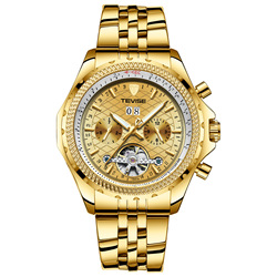 Szwajcaria TEVISE Twiss mężczyźni gorąca sprzedaży zegarki męski zegarek wodoodporny Tourbillon męski zegarek na