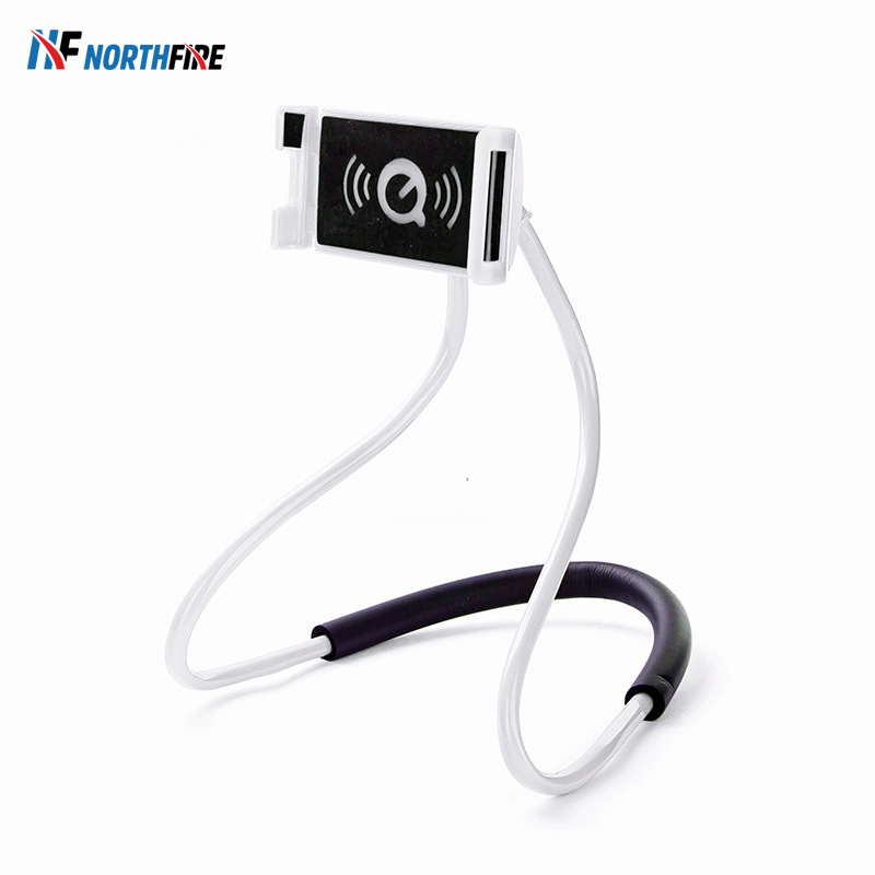Flexible Hanging Neck Mobile Phone Holder Lazy Necklace Support Bracket 360 Bed Seat Smartphone Holder Stand For Iphone Samsung