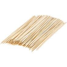 100pcs/bag Natural Bamboo Sticks Wooden Barbecue Kabob Skewers for Grill BBQ Kebab Marshmallow